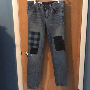 Gap patchwork jeans